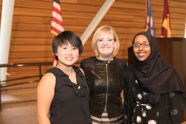 Lolly Schiffman with Molleysa Yang and Sofiya Ahmed