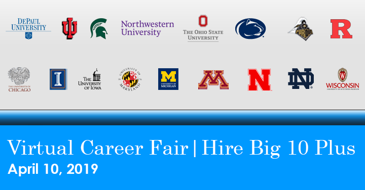 Hire Big 10 Plus Virtual Career Fair