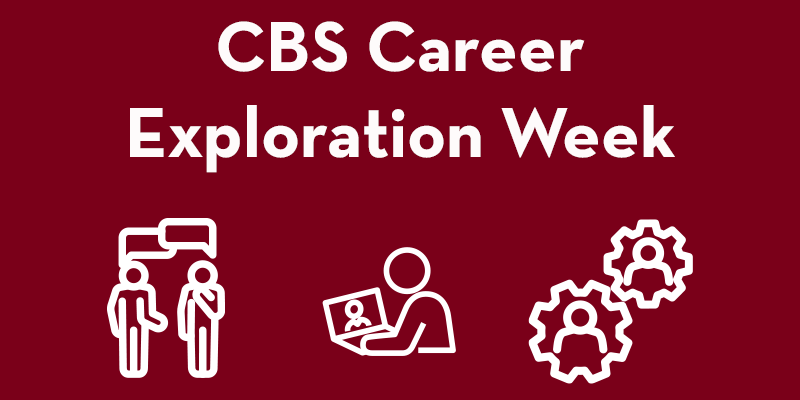 CBS career exploration week header