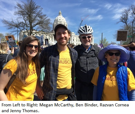 Megan McCarthy, Ben Binder, Razvan Cornea and Jenny Thomas at the St. Paul March for Science