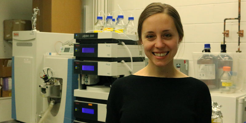 Molly TIllman poses in the lab