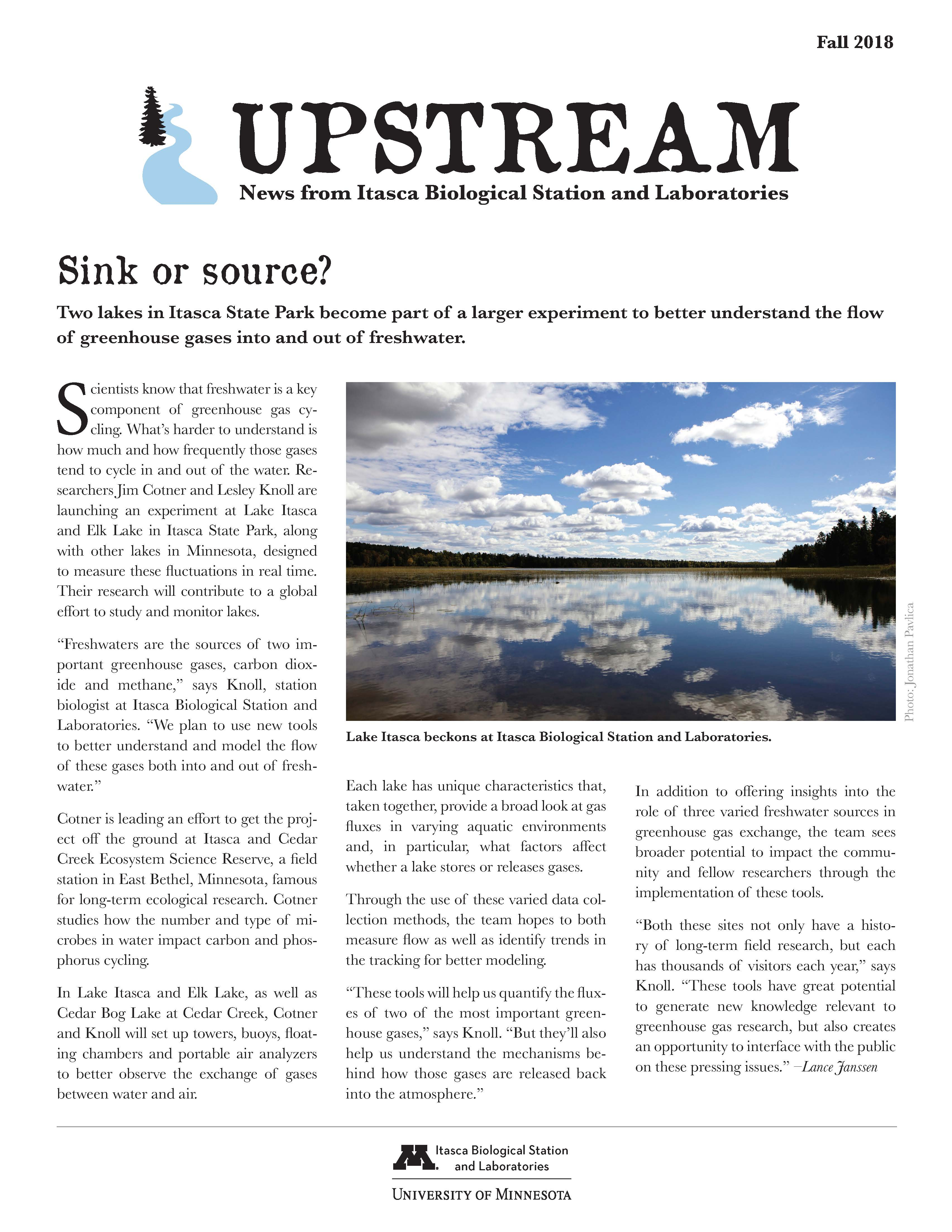 Upstream Fall 2018