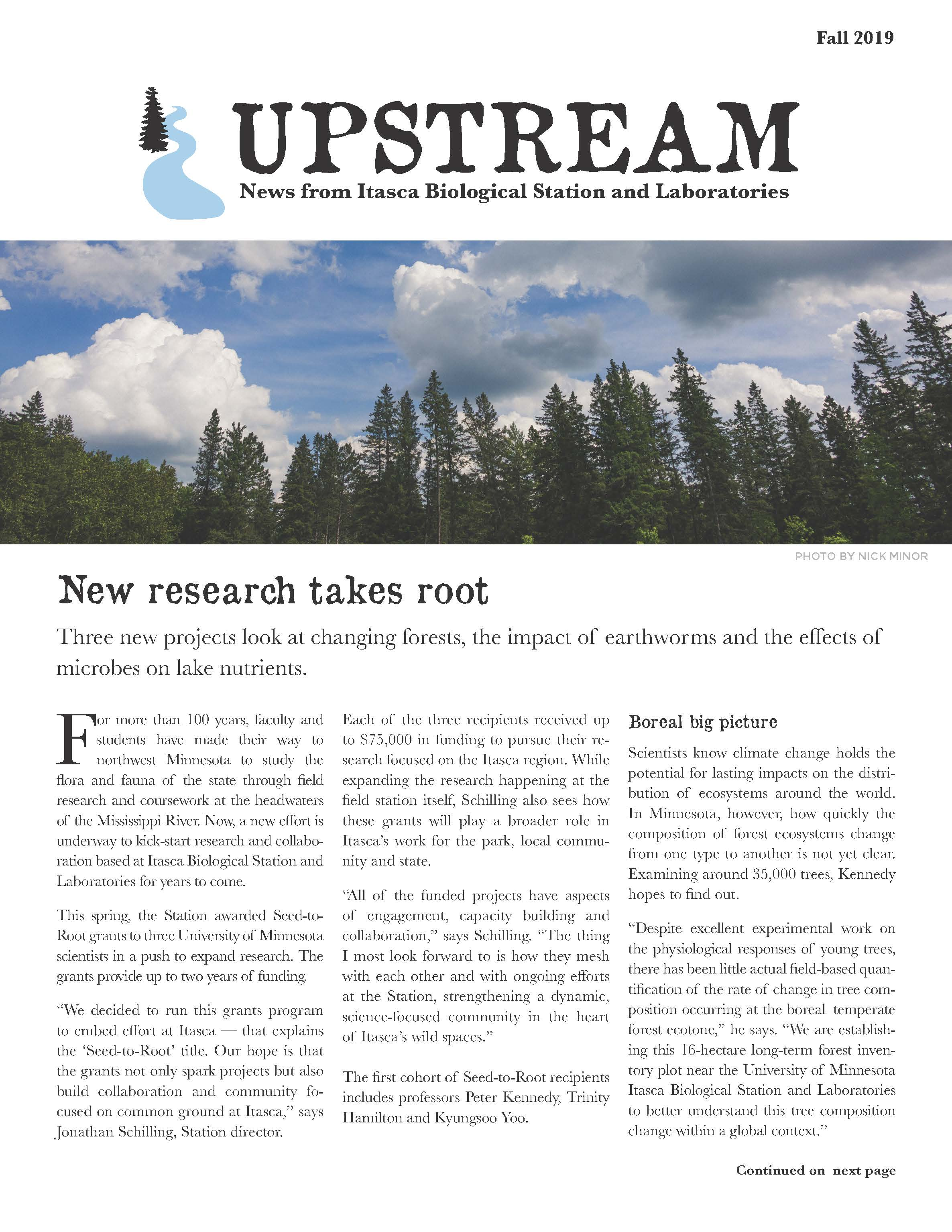 Upstream Fall 2019