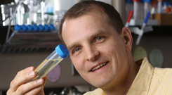 Burkhard Seelig with enzymes