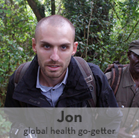 Photo of Jon Strong, 2009 graduate, in rainforest