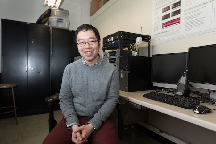 Norman Lee, a postdoctoral associate in the Bee Lab