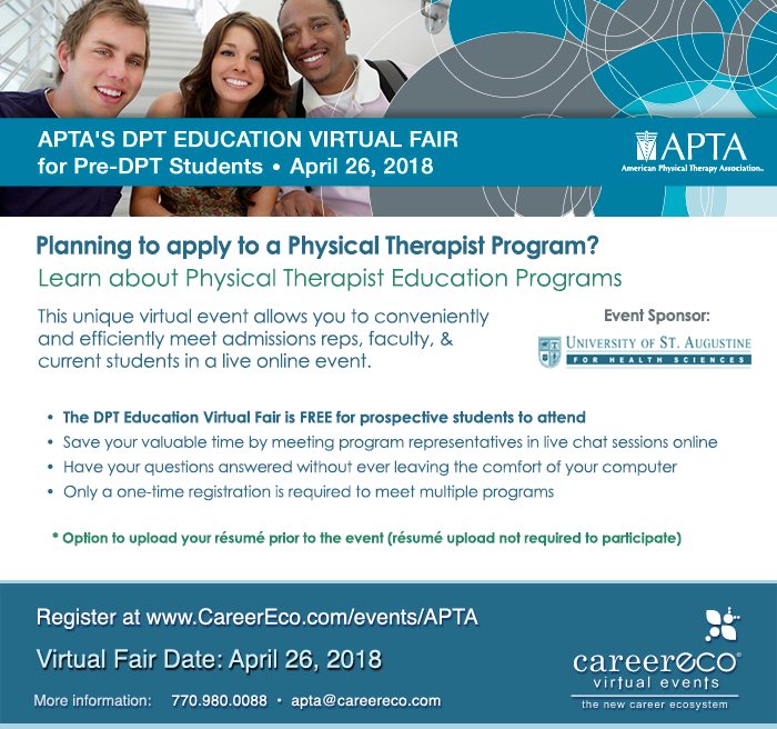 APTA Doctor of Physical Therapy Education Virtual Fair flyer